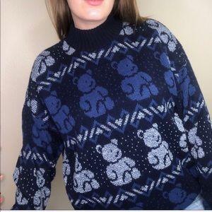 Vintage First Issue Kawaii Teddy Bear Sweater